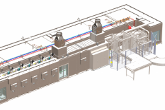 Tunnel Rack Oven System for croissant production