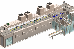 Tunnel Rack Oven System for muffin production